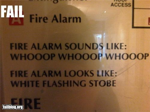 Oddly Specific: fire alarm sound