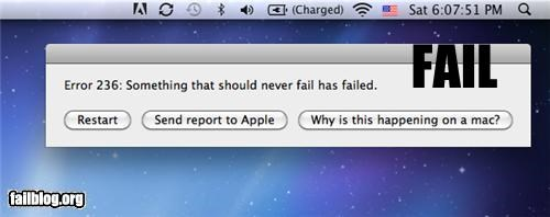 Mac Error FAIL