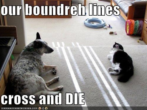 our boundreh lines  cross and DIE