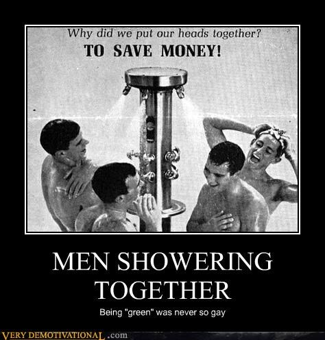 MEN SHOWERING TOGETHER