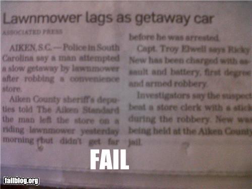 Getaway Fail