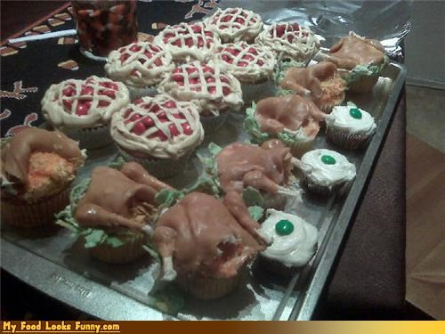 Funny Food Photos - Thanksgiving Cupcakes