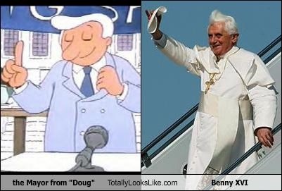 "the Mayor from ""Doug"" Totally Looks Like Benny XVI"