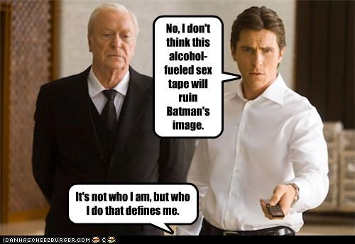 No, I don't think this alcohol-fueled sex tape will ruin Batman's image.