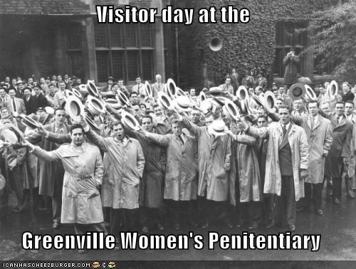 Visitor day at the  Greenville Women's Penitentiary