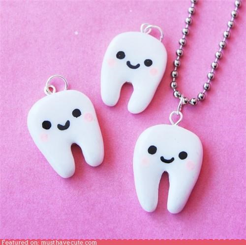 Pearly White Tooth Necklace