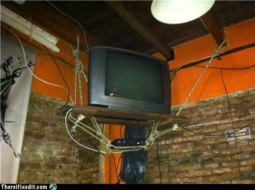 holding it up,sketchy,television