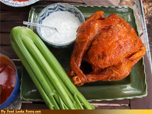blue cheese,buffalo,buffalo turkey,buffalo wings,celery,meat,thanksgiving,Turkey