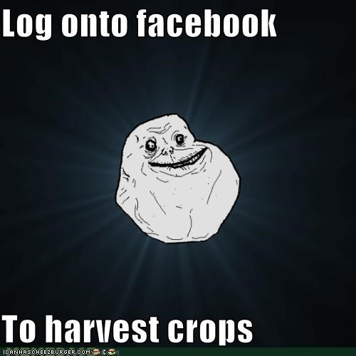 Log onto facebook  To harvest crops