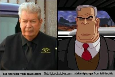 old Harrison from pawn stars Totally Looks Like adrian ripburger from full throttle