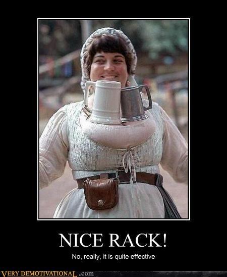 beer,boobs,medieval,nice rack,puns