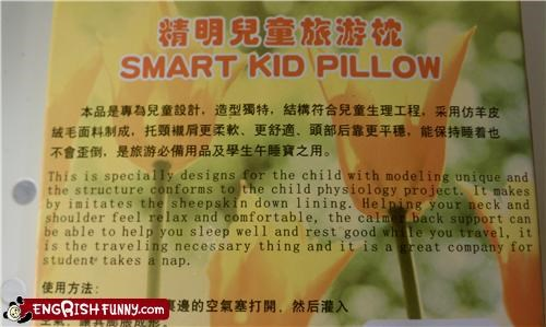 The Dumb Kid Pillow Is A Rock