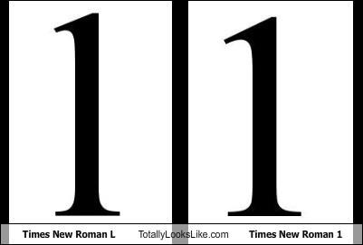 Times New Roman L Totally Looks Like Times New Roman 1