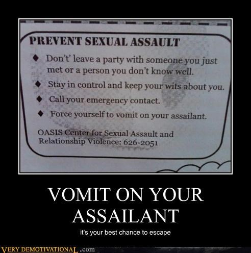 VOMIT ON YOUR ASSAILANT