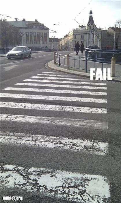 CLASSIC: Pedestrian crossing FAIL