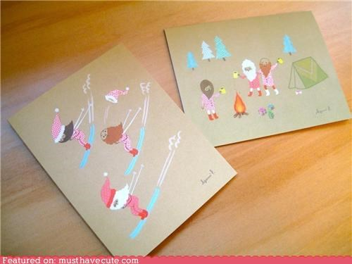 cards,christmas,holiday,paper,printed,stationary