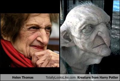 Helen Thomas Totally Looks Like Kreature from Harry Potter