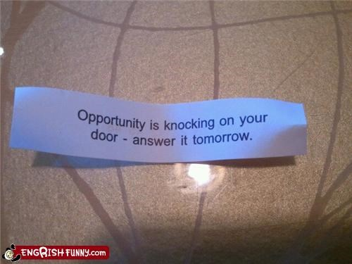 Introducing new low expectation fortune cookies