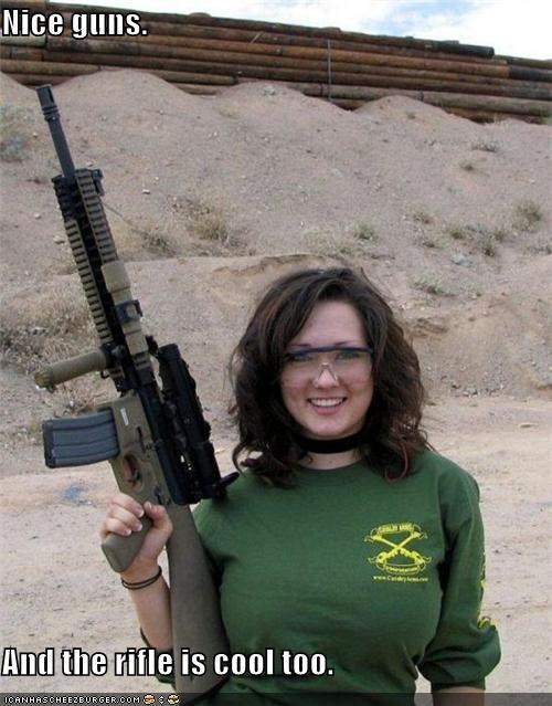 Nice guns.  And the rifle is cool too.