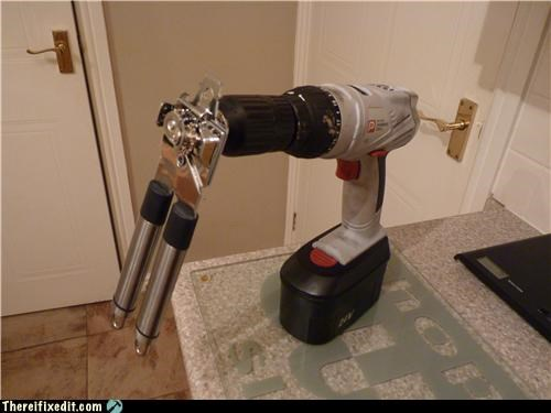 can opener,drill,kitchen,overkill