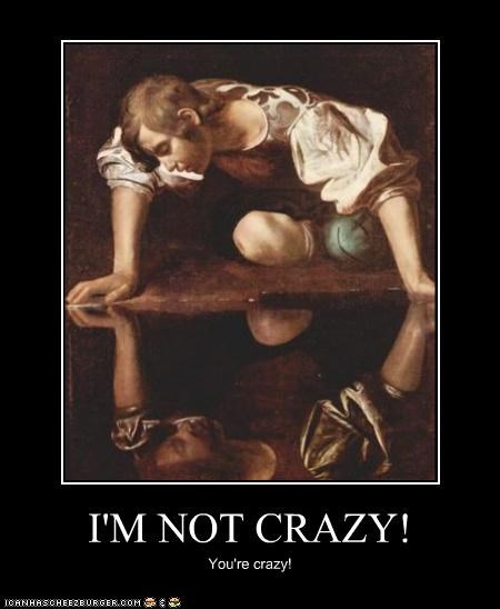 crazy,narcissus,painting,reflection