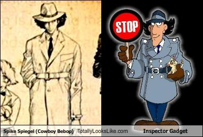 Spike Spiegel (Cowboy Bebop) Totally Looks Like Inspector Gadget