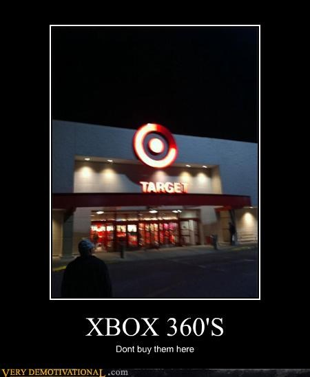 capitalism,FAIL,microsoft,red ring of death,Target,xbox-360s