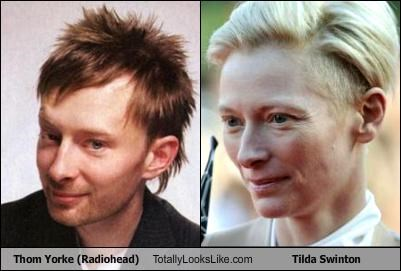 Thom Yorke (Radiohead) Totally Looks Like Tilda Swinton