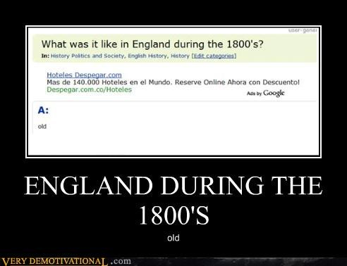 ENGLAND DURING THE  1800'S