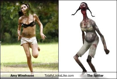 Amy Winehouse Totally Looks Like The Spitter