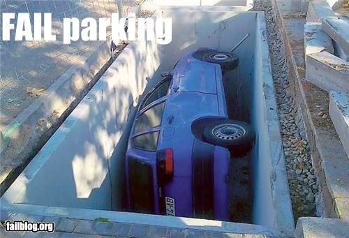 Waitress parking skills