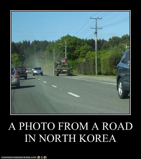 A PHOTO FROM A ROAD IN NORTH KOREA