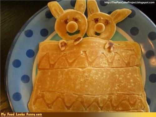 Funny Food Photos - Pigs in a Blanket Pancakes