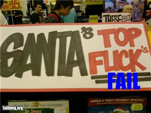 Santa's Top Font/Writing Fail