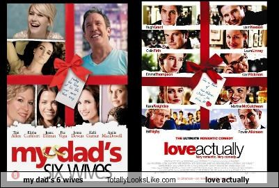 my dad's 6 wives Totally Looks Like love actually
