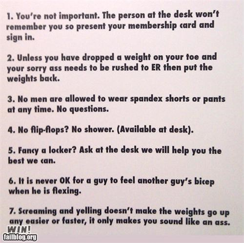 Gym Rules WIN