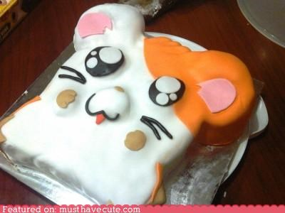anime,cake,character,epicute,hamster,hamtaro