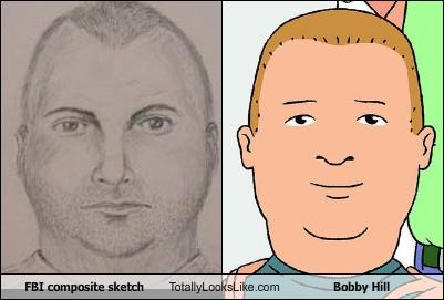 FBI composite sketch Totally Looks Like Bobby Hill