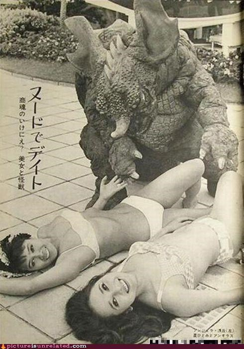 babes,Japan,love,monster,vintage,wtf