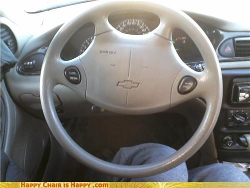 Happy steering wheel is happy