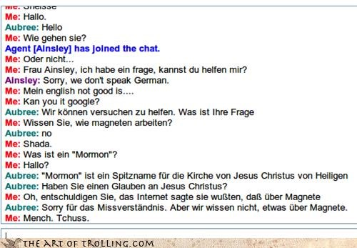 Trolling in German
