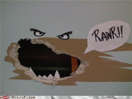 holes,personification,rawr,repair