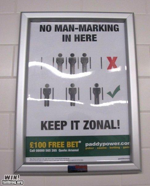 Urinal Etiquette WIN