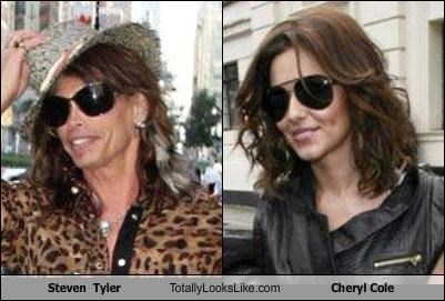 Steven  Tyler Totally Looks Like Cheryl Cole