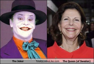 The Joker Totally Looks Like The Queen (of Sweden)