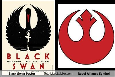 Black Swan Poster Totally Looks Like Rebel Alliance Symbol