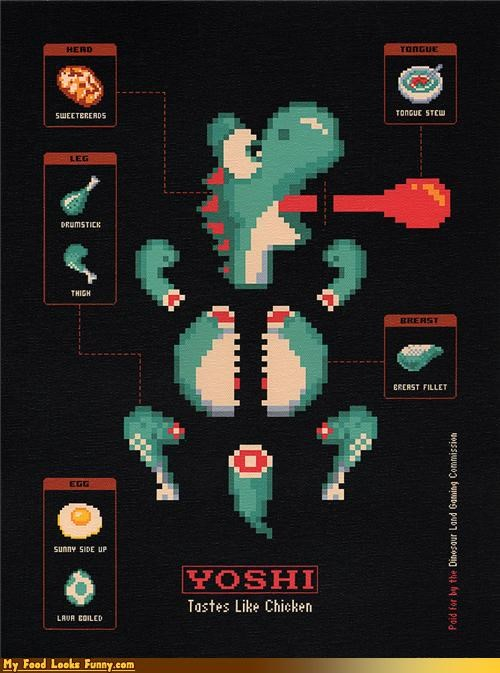Funny Food Photos - Butchering Yoshi
