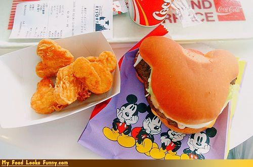 burgers and sandwiches,disney,hamburger,meals,mickey,mickey mouse,nuggets
