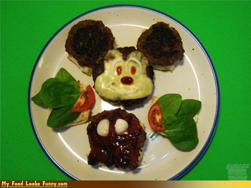 Funny Food Photos - Mickey Mouse Burger