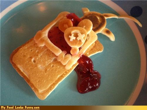 Funny Food Photos - Mouse Trap Pancakes